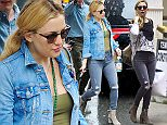 New York, NY - Kate Hudson keeps it simple matching her denims as we spot the blonde actress exiting a NYC hotel under the rain on this Friday afternoon. AKM-GSI          May 13, 2016 To License These Photos, Please Contact : Steve Ginsburg (310) 505-8447 (323) 423-9397 steve@akmgsi.com sales@akmgsi.com or Maria Buda (917) 242-1505 mbuda@akmgsi.com ginsburgspalyinc@gmail.com