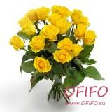 Букет из 25 желтой розы №140
