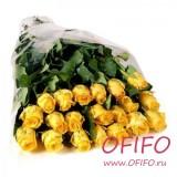 Букет из 25 желтой розы №142