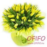 Букет желтых тюльпанов №56