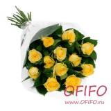 Букет из 25 желтой розы №138