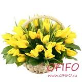 Букет желтых тюльпанов №58
