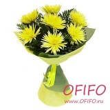 Букет желтых хризантем №9