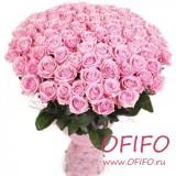 Букет из 101 розовой розы №162