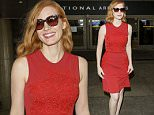 Los Angeles, CA - Jessica Chastain makes her return to Los Angeles on a flight at LAX, after attending the'Money Monster' premiere during 69th Cannes Film Festival in Cannes, France.\nAKM-GSI    May  13, 2016\nTo License These Photos, Please Contact :\nSteve Ginsburg\n(310) 505-8447\n(323) 423-9397\nsteve@akmgsi.com\nsales@akmgsi.com\nor\nMaria Buda\n(917) 242-1505\nmbuda@akmgsi.com\nginsburgspalyinc@gmail.com
