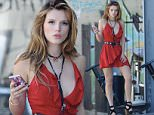"Actress Bella Thorne sports a red dress for a club scene on her upcoming movie ""You Get Me"" filming in downtown Los Angeles. Featuring: Bella Thorne Where: Los Angeles, California, United States When: 12 May 2016 Credit: Cousart/JFXimages/WENN.com **Not available for publication in Australia or New Zealand**"