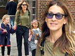 Mandatory Credit: Photo by Startraks Photo/REX/Shutterstock (5683840i)\nSarah Jessica Parker with Daughters Marion Broderick and Tabitha Broderick\nSarah Jessica Parker walking her twin daughters to school , New York, America - 13 May 2016\nSarah Jessica Parker Walking her Twin Daughters to School\n