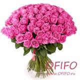 Букет из 55 розовых розы №160