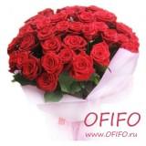 Букет из 25 красной розы №137