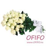 Букет из 25 белых роз №99