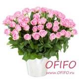 Букет из 55 розовых розы №159
