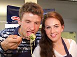 Mandatory Credit: Photo by People Picture/Jens Hartmann/REX/Shutterstock (5682047e) Thomas Muller and Lisa Muller promote Barilla Pasta Thomas Muller and Lisa Muller promote Barilla Pasta, Sky Lounge, Munich, Germany - 10 May 2016