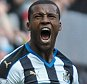 NEWCASTLE, ENGLAND - MAY 15:  Georginio Wijnaldum of Newcastle (5) celebrates after scoring the opening goal during the Barclays Premier League match between Newcastle United and Tottenham Hotspur at St.James' Park on May 15 2016, in Newcastle upon Tyne, England. (Photo by Serena Taylor/Newcastle United via Getty Images)