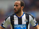 BIRMINGHAM, ENGLAND - MAY 07: Andros Townsend of Newcastle United during the Barclays Premier League match between Aston Villa and Newcastle United at Villa Park on May 7, 2016 in Birmingham, United Kingdom. (Photo by James Baylis - AMA/Getty Images)