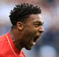 WEST BROMWICH, ENGLAND - MAY 15:  Jordon Ibe of Liverpool celebrates scoring a goal to mke the score 1-1 during the Barclays Premier League match between West Bromwich Albion and Liverpool at The Hawthorns on May 15, 2016 in West Bromwich, England.  (Photo by James Baylis - AMA/WBA FC via Getty Images)