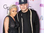 """HOLLYWOOD, CA - MAY 10:  Rob Kardashian and Blac Chyna arrive at her Blac Chyna Birthday Celebration And Unveiling Of Her """"Chymoji"""" Emoji Collection at the Hard Rock Cafe on May 10, 2016 in Hollywood, California.  (Photo by Greg Doherty/Getty Images)"""