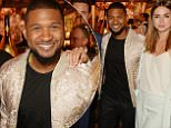 """CANNES, FRANCE - MAY 15:  (L to R) Director Jonathan Jakubowicz, Roberto Duran, Edgar Ramirez, Usher Raymond and Ana de Armas attend a star-studded dinner hosted by DEAN & DELUCA, Harvey Weinstein & Charles Finch to celebrate Robert De Niro in his new film """"Hands Of Stone"""" at Michelangelo Antibes on May 15, 2016 in Cannes, France.  \nPhoto Credit: Dave Benett"""