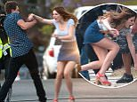 """eURN: AD*206278873  Headline: EXCLUSIVE: Bella Thorne and costar Taylor Smith Mix it up on the set of """"You Get Me"""". Caption:  EXCLUSIVE: Bella Thorne and her costar Taylor Smith on the set of """"You Get Me"""" in Los Angeles today. The former Disney star stepped on to the set in a jean skirt teamed with a low-cut gray top and bright pink heels. The 18-year-old actress argues with her on screen boyfriend before falling to the pavement after Taylor pushes her during the confrontation.    Please byline:TheImageDirect.com  Photographer: TheImageDirect.com  Loaded on 15/05/2016 at 17:49 Copyright:  Provider: TheImageDirect.com  Properties: RGB JPEG Image (39472K 1316K 30:1) 2994w x 4500h at 300 x 300 dpi  Routing: DM News : GeneralFeed (Miscellaneous) DM Showbiz : SHOWBIZ (Miscellaneous) DM Online : Online Previews (Miscellaneous), CMS Out (Miscellaneous)  Parking:"""