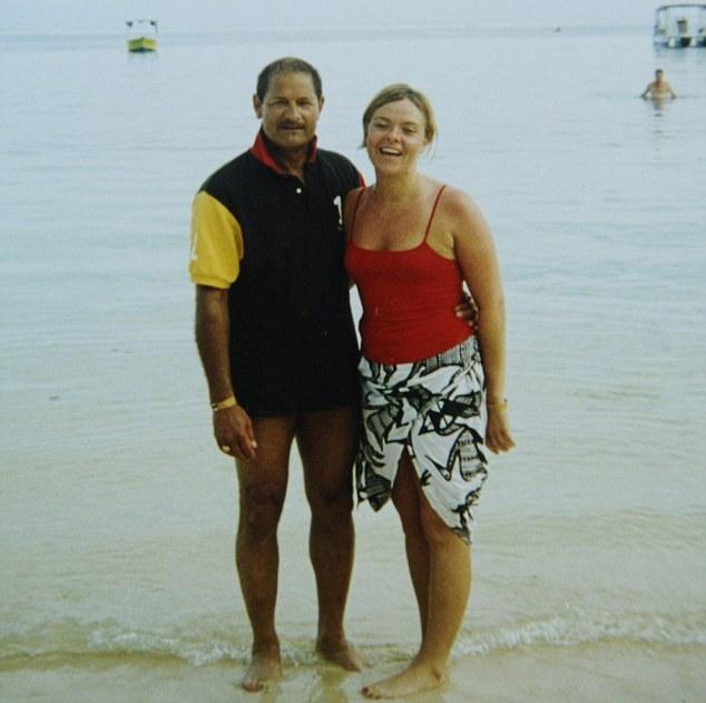 Rachel and Tom when they first met in 2004, in Fiji. Rachel says she felt Tom looked like actor Omar Sharif