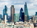 A general view of a City of London skyline, London, England.    ENK1EF