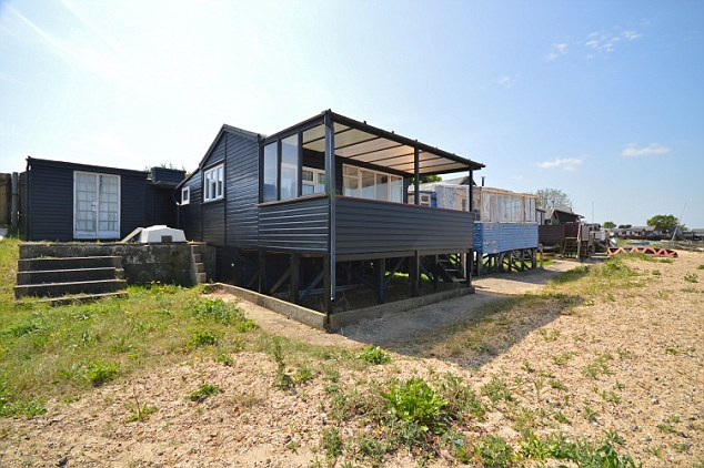 The two bedroom cabin is less than half an hour from nearby Clacton-on-Sea in Essex