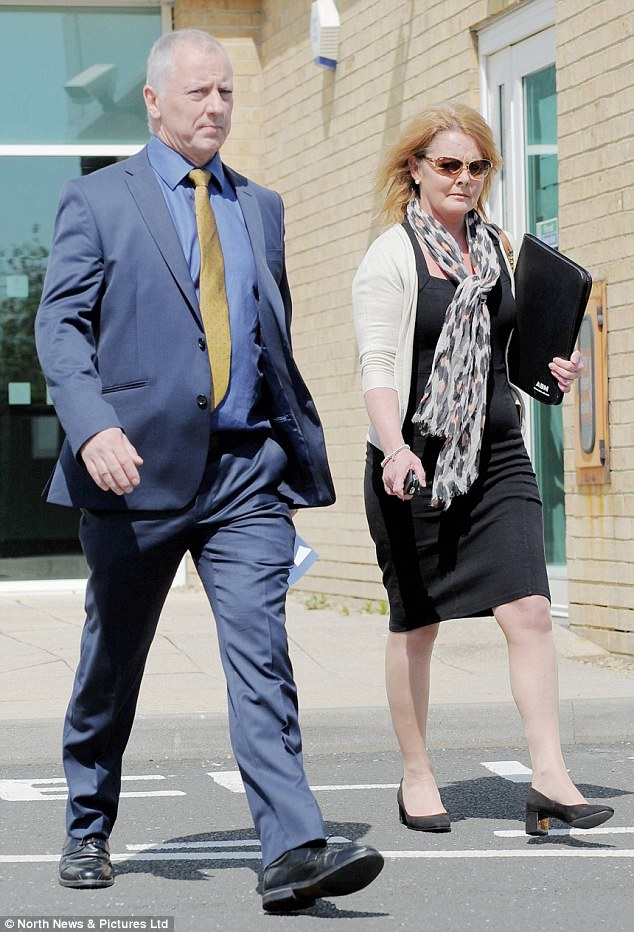 Assistant Chief Constable Greg Vant and Mr Craik's secretary Juliet Bains (pictured outside the tribunal) were also said to have had an affair, the tribunal was told. Mr Vant has denied that they got together while working