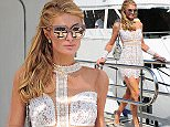 17 May 2016 - Cannes  - France   Paris Hilton pictured leaving a privet yacht after spending the night    BYLINE MUST READ : XPOSUREPHOTOS.COM  ***UK CLIENTS - PICTURES CONTAINING CHILDREN PLEASE PIXELATE FACE PRIOR TO PUBLICATION ***  **UK CLIENTS MUST CALL PRIOR TO TV OR ONLINE USAGE PLEASE TELEPHONE   44 208 344 2007 **