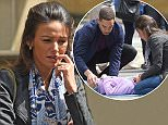 17 May 2016 - Manchester - UK  Michelle Keegan seen filming dramatic scenes for Our Girls were a young girl is knicked off her bike. BYLINE MUST READ : XPOSUREPHOTOS.COM  ***UK CLIENTS - PICTURES CONTAINING CHILDREN PLEASE PIXELATE FACE PRIOR TO PUBLICATION ***  **UK CLIENTS MUST CALL PRIOR TO TV OR ONLINE USAGE PLEASE TELEPHONE   44 208 344 2007 **