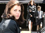 152275, EXCLUSIVE: Katie Holmes and the young actor playing John F Kennedy Jr. spotted on set of The Kennedys: After Camelot filming in Toronto. Toronto, Canada - Tuesday May 17, 2016. CANADA OUT Photograph: © Sean ONeill,  PacificCoastNews. Los Angeles Office: +1 310.822.0419 UK Office: +44 (0) 20 7421 6000 sales@pacificcoastnews.com FEE MUST BE AGREED PRIOR TO USAGE