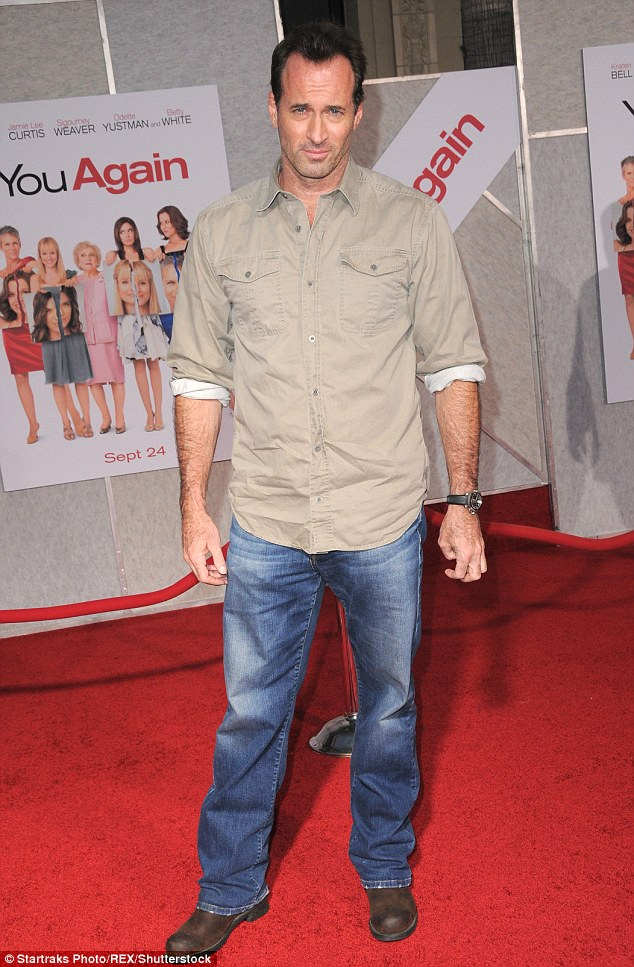 Spilling the beans:It was her co-star on the drama, Scott Patterson, 57, who happened to reveal the big news in an interview with Glamour, as he is pictured in September 2010