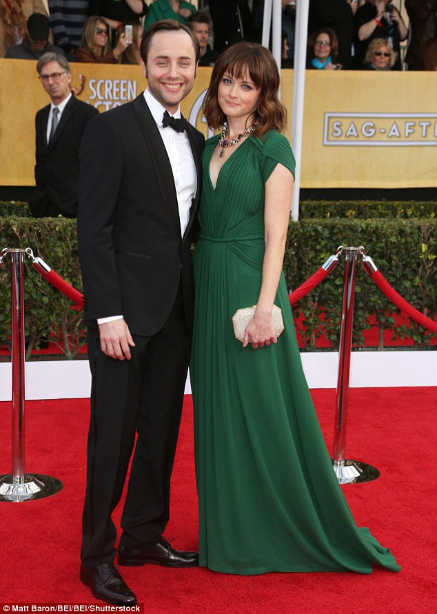 Happy family: Alexis Bledel and Vincent Kartheiser have welcomed a bouncing baby boy according to a Wednesday report from E! News, as they are pictured together in January 2013