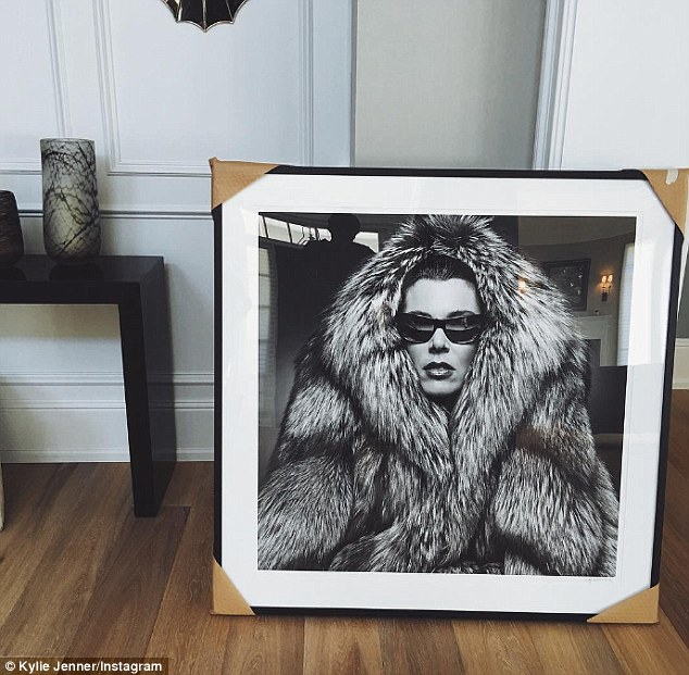 Her inspiration:The star is also throwing herself into home decorating with Kylie revealing she had several glamorous pictures of her mother framed