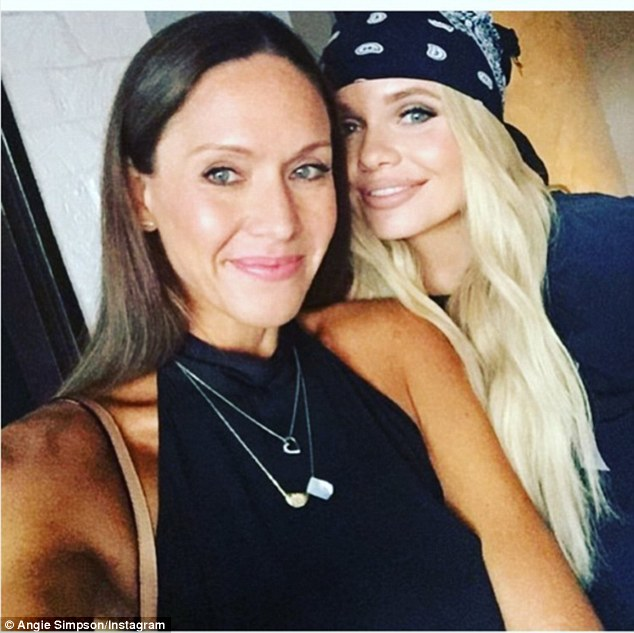 BFFs: Alli often gushes about her close bond with Angie on social media