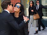 EXCLUSIVE: Padma Lakshmi was spotted leaving her Soho NYC Apartment Monday morning, with the company of a handsome, dapper looking mystery man. The gentleman held the door for Padma as they exited together and headed to a lunch date. The pair went to Alimentary and Vineria in the East Village, where they dined for an hour . They parted ways after their meal, but not before a kiss and hug goodbye.\nPhotos taken on May 16th 2016.\n\nPictured: Padma Lakshmi\nRef: SPL1283555  170516   EXCLUSIVE\nPicture by: 247PAPS.TV\n\nSplash News and Pictures\nLos Angeles: 310-821-2666\nNew York: 212-619-2666\nLondon: 870-934-2666\nphotodesk@splashnews.com\n