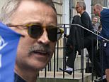 Actor Robert Carlyle (Begbie) arrives on the set of Trainspotting 2 being filmed in the affluent Royal Circus, Edinburgh. The crew have taken on a whole town house in the famous Georgian Crescent. May 17, 2016.