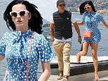 Picture Shows: Katy Perry  May 17, 2016    Couple Orlando Bloom and Katy Perry step off a yacht after an afternoon spent soaking up the sun in Antibes, France.    Non Exclusive  UK RIGHTS ONLY    Pictures by : FameFlynet UK ? 2016  Tel : +44 (0)20 3551 5049  Email : info@fameflynet.uk.com
