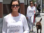 """eURN: AD*206615733  Headline: Janice Dickinson wears her confy sweater walking her pups Caption: 17.May.2016 - Beverly Hills ? USA *** STRICTLY AVAILABLE FOR UK AND GERMANY USE ONLY *** Beverly Hills, CA - Janice Dickinson is seen walking her two dogs in the 90210. The 61-year-old supermodel is wearing a """"I am comfy sweater"""" jumper paired with leggings and sneakers.  BYLINE MUST READ : AKM-GSI-XPOSURE ***UK CLIENTS - PICTURES CONTAINING CHILDREN PLEASE PIXELATE FACE PRIOR TO PUBLICATION *** *UK CLIENTS MUST CALL PRIOR TO TV OR ONLINE USAGE PLEASE TELEPHONE 0208 344 2007*  Photographer: AKM-GSI-XPOSURE  Loaded on 18/05/2016 at 00:29 Copyright:  Provider: AKM-GSI-XPOSURE  Properties: RGB JPEG Image (7146K 1392K 5.1:1) 1275w x 1913h at 72 x 72 dpi  Routing: DM News : GroupFeeds (Comms), GeneralFeed (Miscellaneous) DM Showbiz : SHOWBIZ (Miscellaneous) DM Online : Online Previews (Miscellaneous), CMS Out (Miscellaneous)  Parking:"""