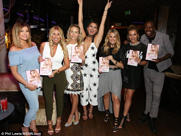 Celebrating in style: The gang were out in full swing and had a fabulous night celebrating Ferne's literary achievement