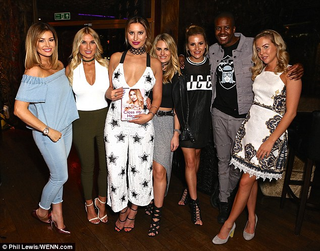 The Essex squad: Jessica was joined by all of her Essex pals (From L-R) Billie Faiers, Ferne McCann, Danielle Armstrong,Georgia Kousoulou, Vas J Morgan and Lydia Bright