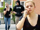 Please contact X17 before any use of these exclusive photos - x17@x17agency.com   Young couple Brooklyn Beckham and Chloe Grace Moretz grab coffee in Beverly Hills after spending a romantic night together. Chloe shows off her curvier figure as she settles into her comfortable relationship. May 18, 2016 X17online.com PREMIUM EXCLUSIVE