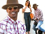 *EXCLUSIVE* Beverly Hills, CA - Jamie Foxx is spotted playing around with a toy motor bike called Lil Go-Go. The funny man is accompanied by a mystery woman as the rumor mill turns with alleged relationship with Katie Holmes. Jamie is wearing jeans and a plaid button up paired with camel boots and a hat. \nAKM-GSI       May 17, 2016\nTo License These Photos, Please Contact :\nSteve Ginsburg\n(310) 505-8447\n(323) 423-9397\nsteve@akmgsi.com\nsales@akmgsi.com\nor\nMaria Buda\n(917) 242-1505\nmbuda@akmgsi.com\nginsburgspalyinc@gmail.com