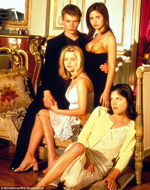 Iconic: Cruel Intentions shot its young cast (L-R Ryan Phillippe, Reese Witherspoon, Sarah Michelle Gellar and Selma Blair) to worldwide superstardom when it hit screens in 1999
