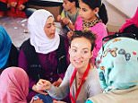 15h oliviawildeThe lovely Syrian girls in the @savethechildren healing-through-arts program at the Za'atari refugee camp were kind enough to attempt to teach me how to sew. I left them with a new perspective on failure, as well as the human capacity to sweat. #Zaatari