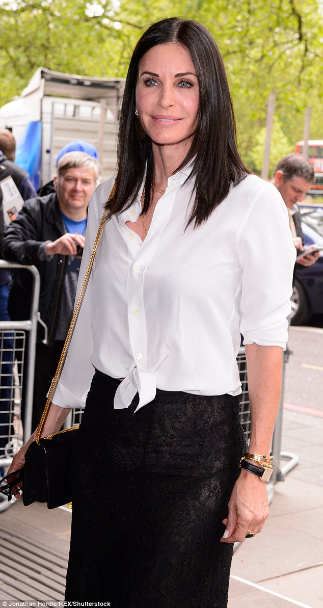 She's got Friends there: Courteney Cox injected some Hollywood glamour into the Ivor Novello Awards as she arrived in style on Thursday
