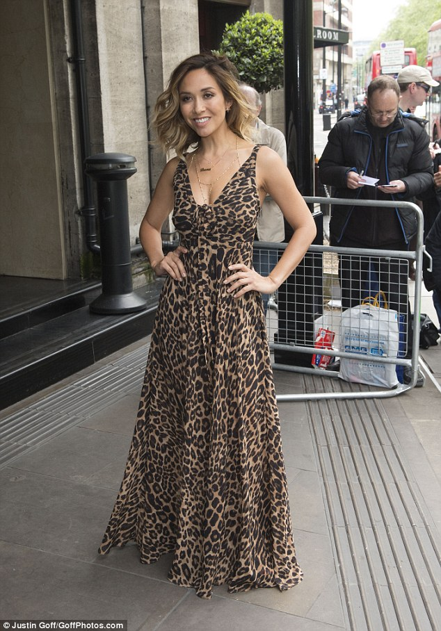 Klass act: Former pop star Myleene Klass was also among the guests, and looked sensational in leopard print