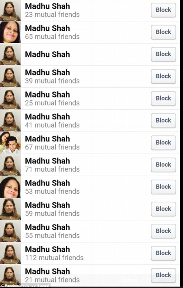 Pawan Manghnani said that he has had more than 150 mutual friends in common with these fake accounts for about four years