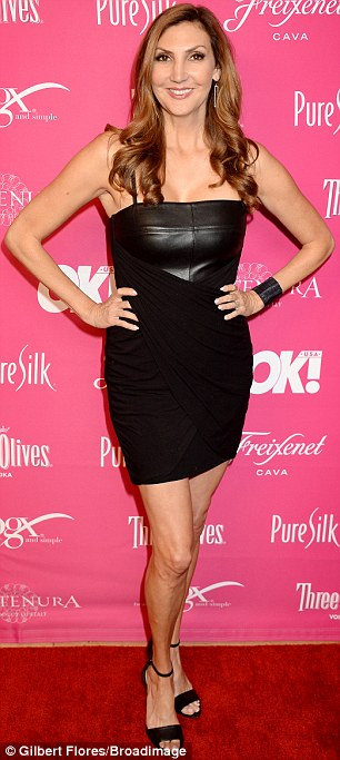 Heather McDonaldturned heads in a strapless black number