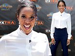 """UNIVERSAL CITY, CA - MAY 17:  Kelly Rowland visits """"Extra"""" at Universal Studios Hollywood on May 17, 2016 in Universal City, California.  (Photo by Noel Vasquez/Getty Images)"""