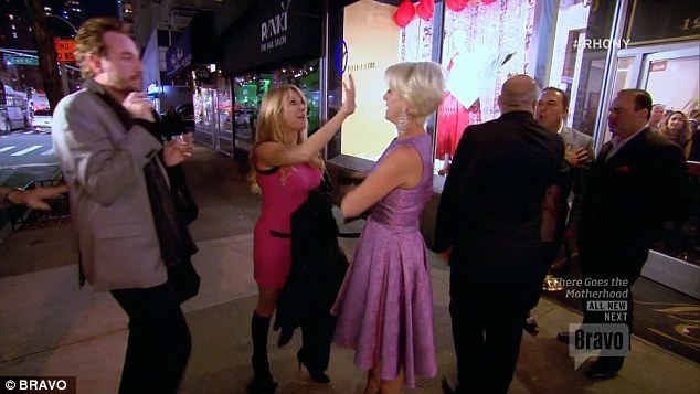 Angry: Ramona and Dorinda got into a screaming match outside John's dry cleaning business as they fought over his behavior