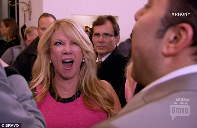 Drama: Ramona Singer got into a massive blow-up with Dorinda Medley and boyfriend JohnMahdessian on Real Housewives of New York on Wednesday